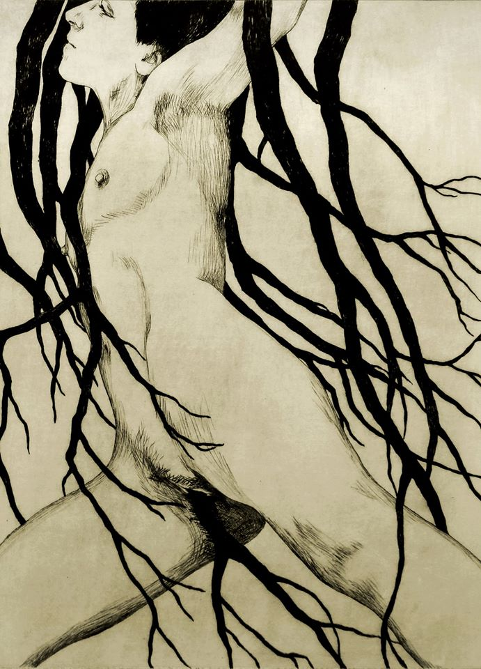 Iris Miranda, gravure, sarrant, estivales, les ames papier