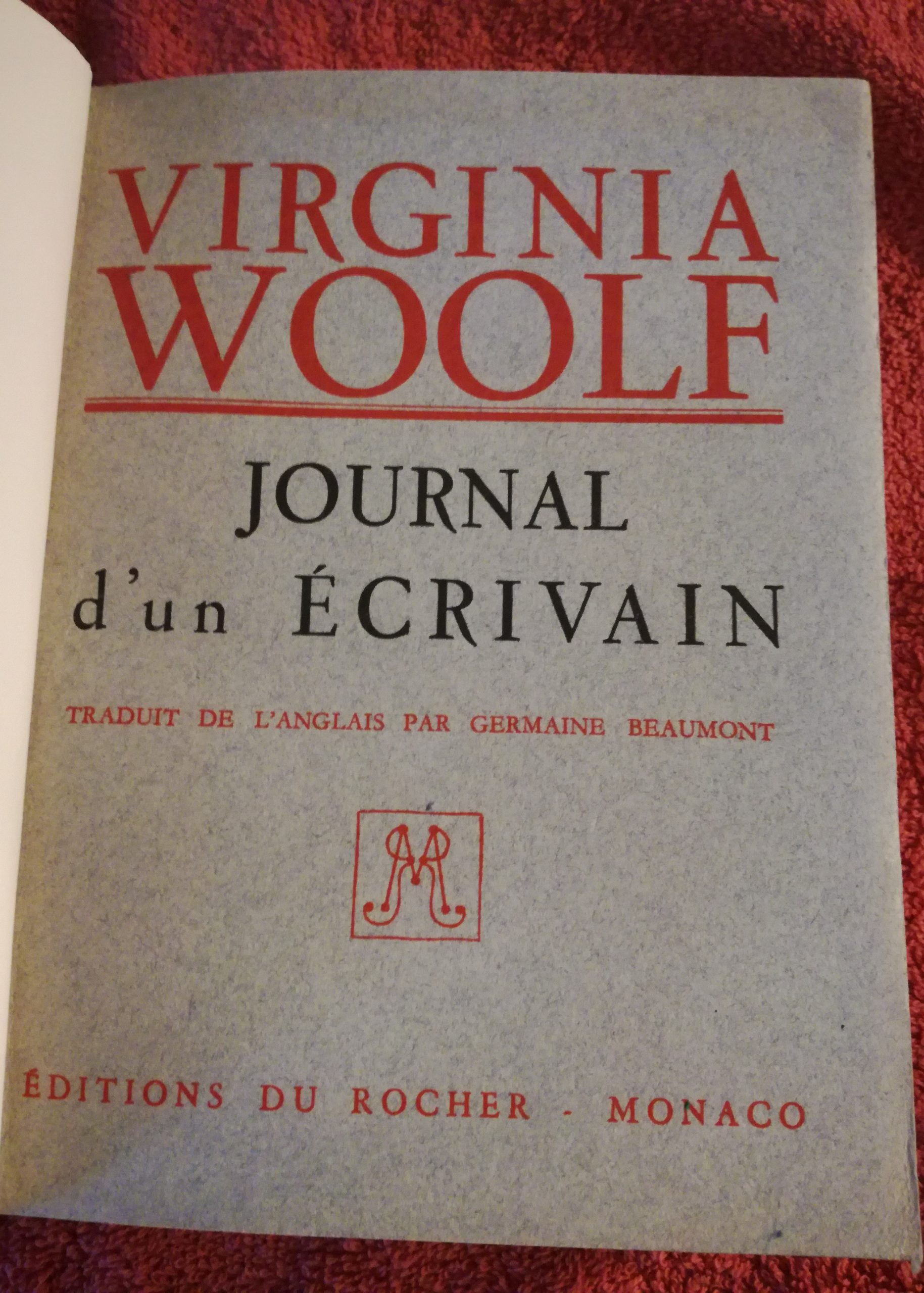 virginia woolf, reliure, les ames papier, sarrant